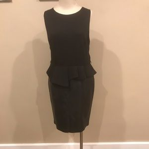 Sleeveless faux leather dress!
